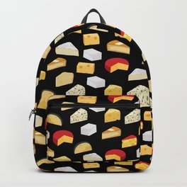 Cheese pattern food fight apparel and gifts Backpack