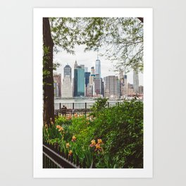 New York Lovers Art Print