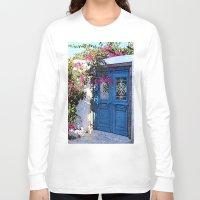 doors Long Sleeve T-shirts featuring Santorini Doors by Brian Raggatt
