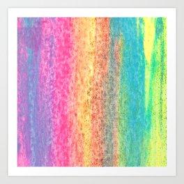 Cotton Candy Land Rainbow Paint Texture Art Print