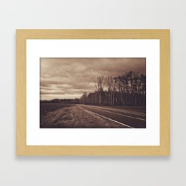 Stormy road Framed Art Print
