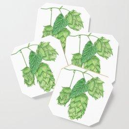 Beer Hop Flowers Coaster