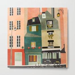 paris 2 travel europe france houses Metal Print