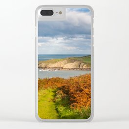 Porth Wen, White Bay, Llanbadrig, Anglesey, Wales, United Kingdom, UK Clear iPhone Case