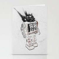 army Stationery Cards featuring robot army by Tom Kitchen