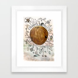 A dreamy collaboration: Coconut crazy Framed Art Print