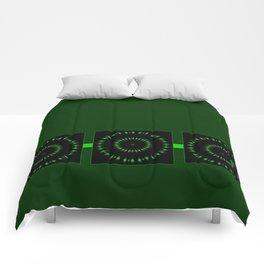 Expanding Green Comforters