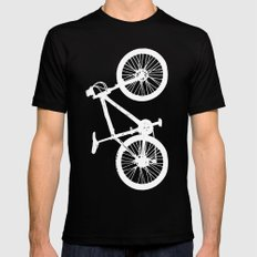Mountain Bike Navy Blue Mens Fitted Tee MEDIUM Black