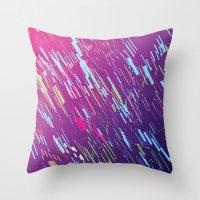 aurora Throw Pillows featuring Aurora by ThoughtCloud