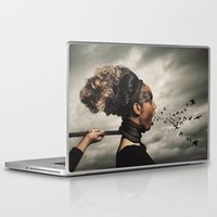 inner demons Laptop & iPad Skins featuring The Demons Within by Shaun Lowe