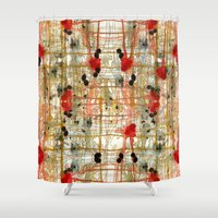 monster inc Shower Curtains featuring Monster by Tammy Kushnir