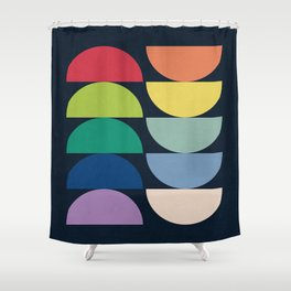 Abstract Flower Palettes Shower Curtain