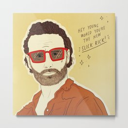 THE WALKING DEAD POSITIVITY POSTS (BONUS: RICK) Metal Print
