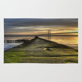 The Forth Road Bridge as the Sun Sets Rug