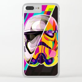 Pop-Art Stormtrooper StarWars - Abstract Artwork Clear iPhone Case