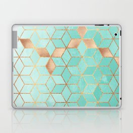 Soft Gradient Aquamarine Laptop & iPad Skin