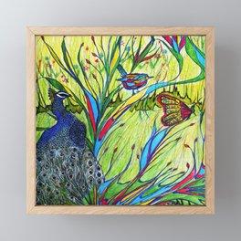 Peacock In Dreamland Framed Mini Art Print