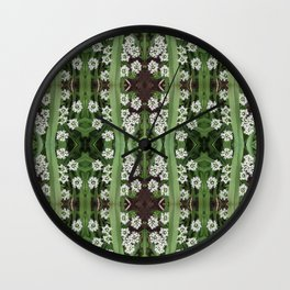 206 - Queen Anne's Lace abstract pattern Wall Clock