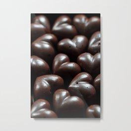 Chocolate Hearts Metal Print
