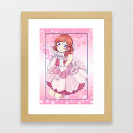 Love Live! Maki Nishikino Pink Version Framed Art Print
