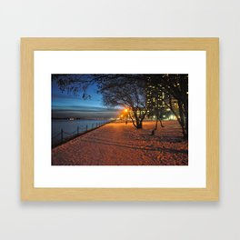 Fall During Winter Framed Art Print