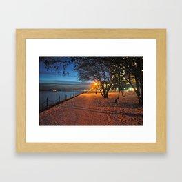 Fall During Winter Framed Art Print