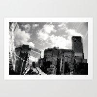 buildings Art Prints featuring Buildings  by Mich Li