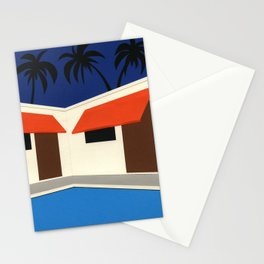 The Pool Of Broadway Motel Los Angeles Stationery Cards