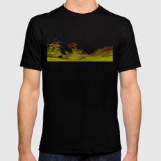 glencoe panorama landscape, scotland. MEDIUM Mens Fitted Tee Black