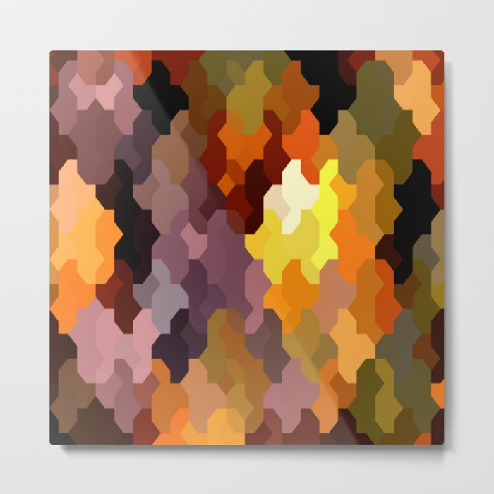 Puzzled Metal Print
