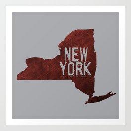 NY State Art Print