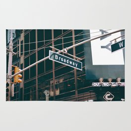 Broadway Street Sign (Color) Rug