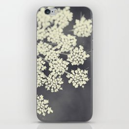 Black and White Queen Annes Lace iPhone Skin