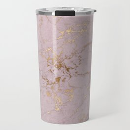 Chic mauve pink gold elegant stylish marble Travel Mug