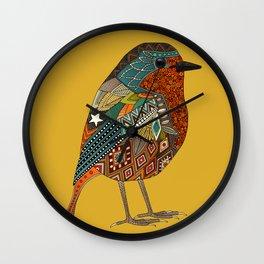 robin gold Wall Clock