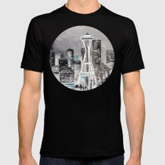 Goodnight, Everybody! Mens Fitted Tee Black X-LARGE