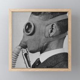 Classic gas mask Framed Mini Art Print