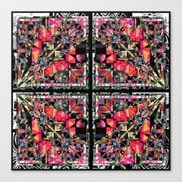 pink black and white pattern Canvas Print