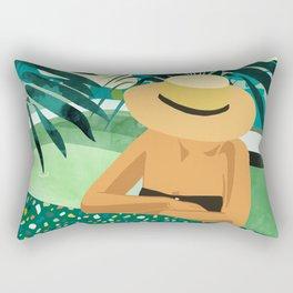 Chill #illustration #travel Rectangular Pillow