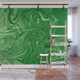 Green pastel abstract marble Wall Mural