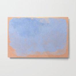 Minimal Abstract Light Blue Colorfield Painting 02 Metal Print