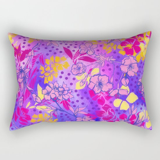 Colorful cherry blossoms Rectangular Pillow