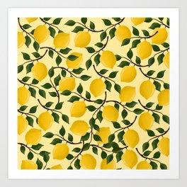 Lots of lemons Art Print