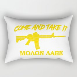 Come and Take It! Molon Labe! Gold in Greek. Rectangular Pillow