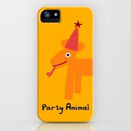 Party Animal-Orange iPhone Case