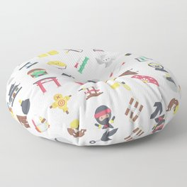 CUTE NINJA PATTERN Floor Pillow