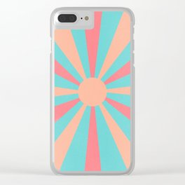 pink and peach sunshine Clear iPhone Case