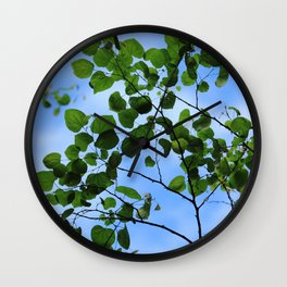 Red Bud Leaves Wall Clock
