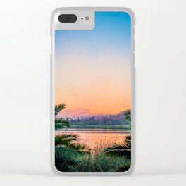 Between the Palms (Color) Clear iPhone Case