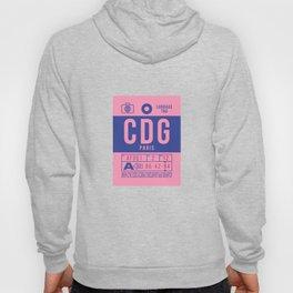 Baggage Tag B - CDG Paris Charles De Gaulle France Hoody